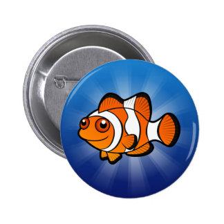 Cartoon Clownfish Pinback Button