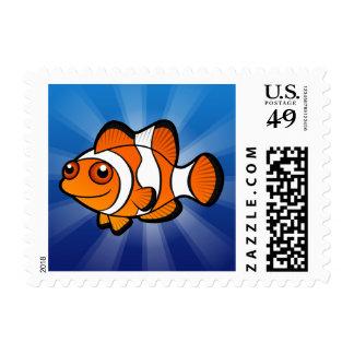 Cartoon Clownfish Postage Stamp