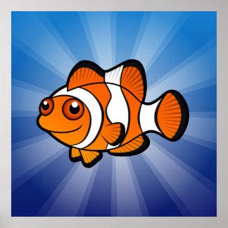 Cartoon Clownfish Poster