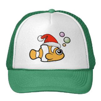 Cartoon Clownfish Santa Mesh Hats