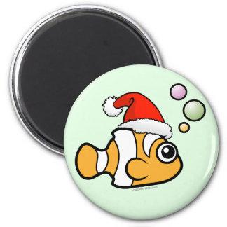 Cartoon Clownfish Santa Magnet