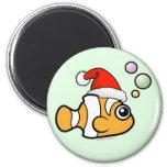 Cartoon Clownfish Santa Refrigerator Magnets