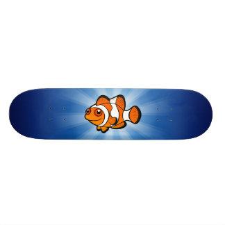 Cartoon Clownfish Skateboard Deck