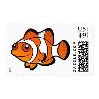 Cartoon Clownfish Stamp