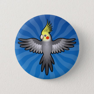 Cartoon Cockatiel Button