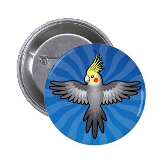 Cartoon Cockatiel Button