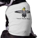 Cartoon Cockatiel Dog T Shirt