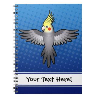 Cartoon Cockatiel Notebook