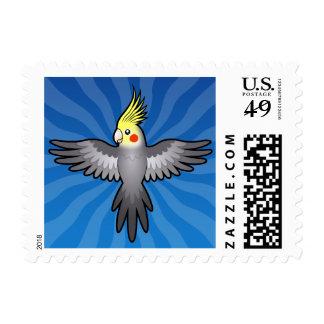 Cartoon Cockatiel Stamp