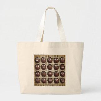 Cartoon Coffee Beans Large Tote Bag