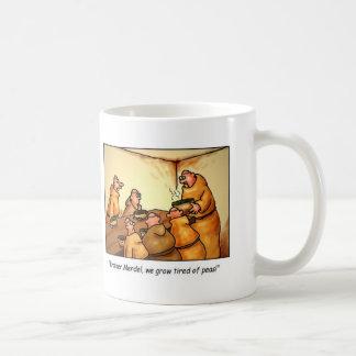 Cartoon Coffee Mug, Mendel's Peas Classic White Coffee Mug