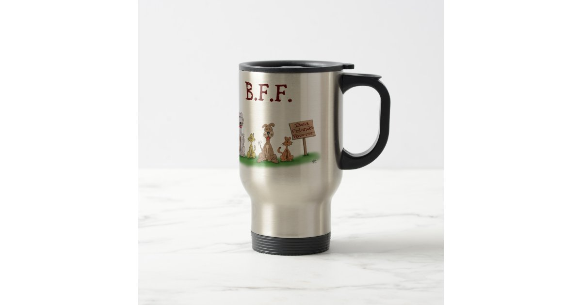 best travel coffee mug coffee tea mugs best friends forever 15 oz 12653