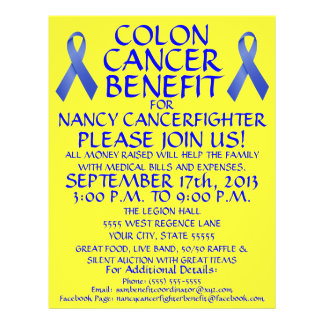 Cartoon Colon Cancer Benefit Flyer