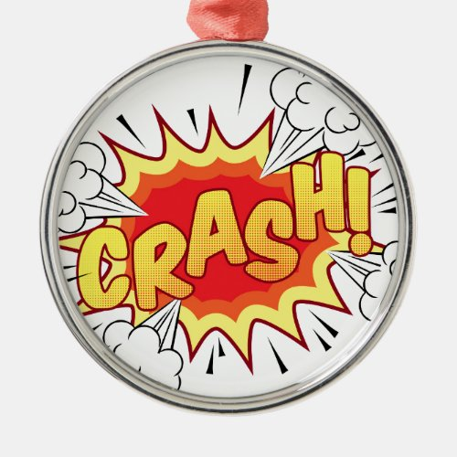 Comic Book Metal Ornament