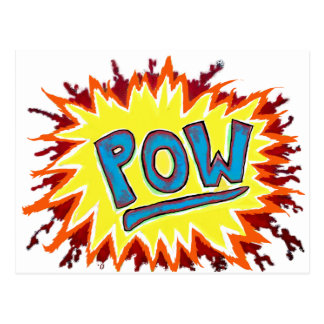 Cartoon & Comics Sound Effect POW! Postcard