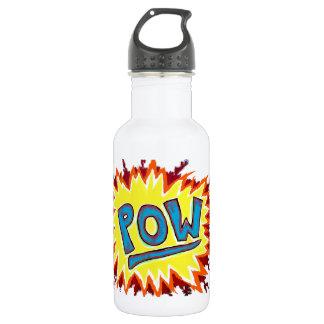 Cartoon & Comics Sound Effect POW! Stainless Steel Water Bottle