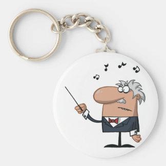 Cartoon Conductor Keychain