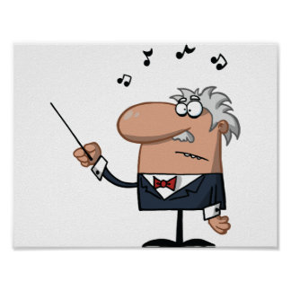 Cartoon Conductor Poster