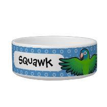 Cartoon Conure / Lorikeet / Parrot Bowl