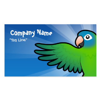 Cartoon Conure / Lorikeet / Parrot Double-Sided Standard Business Cards (Pack Of 100)