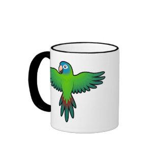 Cartoon Conure / Lorikeet / Parrot Ringer Coffee Mug