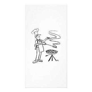 Cartoon Cook and BBQ Photo Card