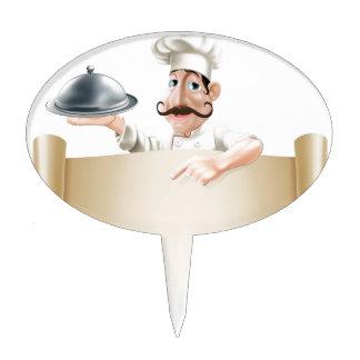 Cartoon Cook Menu Scroll Cake Toppers