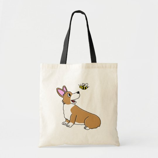 Cartoon Corgi Bee Bag
