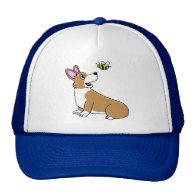 Cartoon Corgi Bee Hat