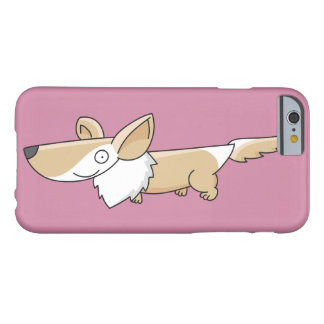 Cartoon Corgi Red Barely There iPhone 6 Case