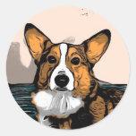 Cartoon Corgi Sticker