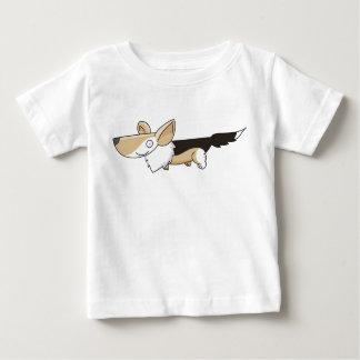 Cartoon Corgi Tricolor Baby T-Shirt