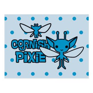 Cartoon Cornish Pixie Character Art Postcard