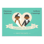 Cartoon Couple Save The Date Announcement (DAA)