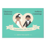 Cartoon Couple Save The Date Announcement (LAA)
