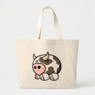 Cartoon Cow Jumbo Tote Bag