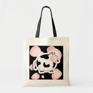 Cartoon cow, bag