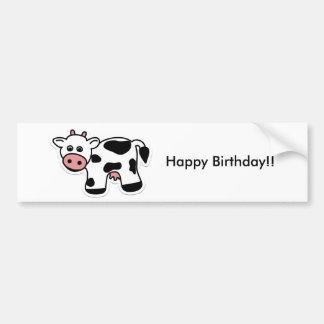 Cartoon Cow Bumper Sticker Car Bumper Sticker