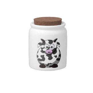 Cartoon Cow Candy Jar