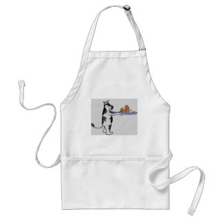 Cartoon Cow Carrying Tray Adult Apron