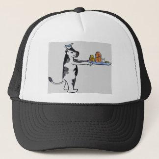 Cartoon Cow Carrying Tray Trucker Hat