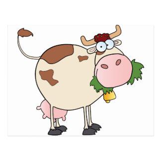 Cartoon Cow Character Postcard