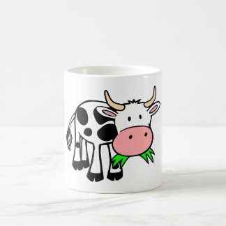 Cartoon Cow Chewing Grass Coffee Mug