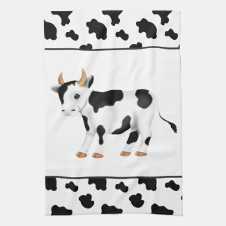 Cartoon Cow Country Kitchen Towel