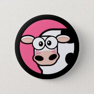 Cartoon Cow Customizable Button