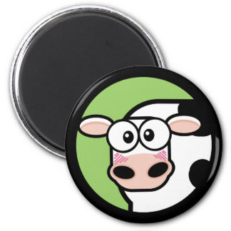 Cartoon Cow Customizable Magnet 2 Inch Round Magnet
