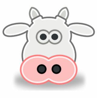 Cartoon Cow Face and Head Acrylic Cut Out