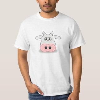Cartoon Cow Face and Head T-Shirt