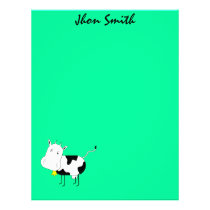 Cartoon Cow Funny Letterhead