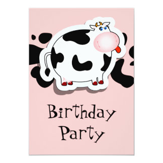 Cartoon cow, invitation